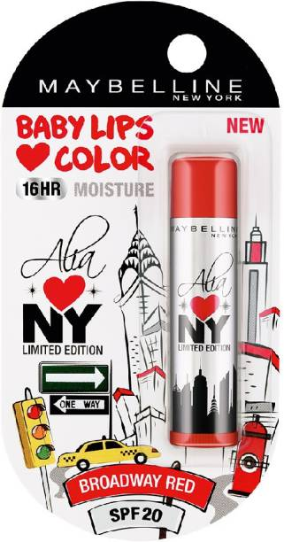 MAYBELLINE NEW YORK Alia Loves NY Lip Balm Broadway Red