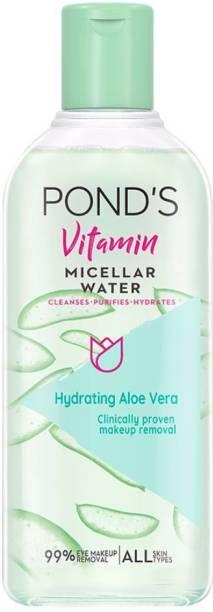 PONDS Vitamin Micellar Water Hydrating Aloe Vera Makeup Remover