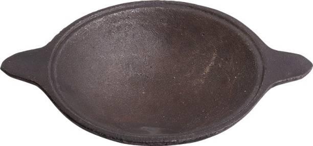 The Indus Valley Cast Iron Appam Pan/ maker/ appachatty/kadai [ Pre Seasoned / 7.6 inch / 1.2 KG ] Fry Pan 20 cm diameter��(Cast Iron) Fry Pan 20 cm diameter 0.3 L capacity