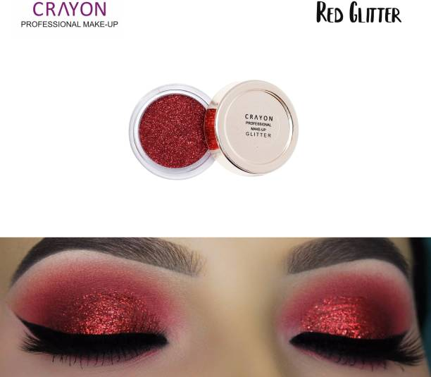crayon red glitter
