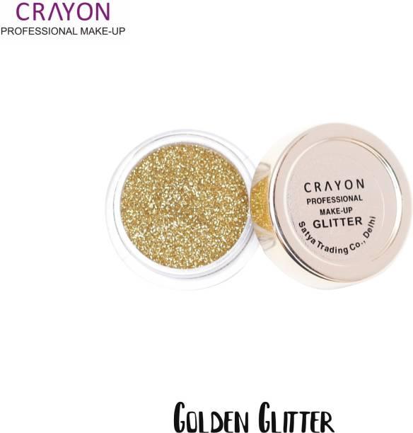 crayon golden glitter