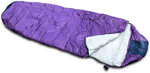 Waterproof 4-5 Season Camping Hiking Adult Single Warm Sleeping Bag Blue+grey