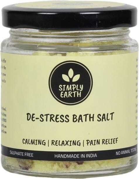 Simply earth Calming De-Stress Bath Salt enriched with Shea Butter