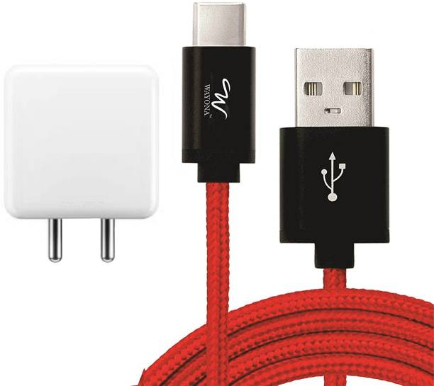 Wayona WDCR1R1 4A adaptor with 3ft Nylon Braided Type C cable Dash Mobile Charger 4.8 A Mobile Charger with Detachable Cable