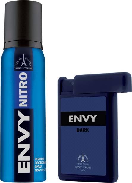 ENVY Nitro Deo & Dark Pocket Perfume Combo Deodorant Spray  -  For Men