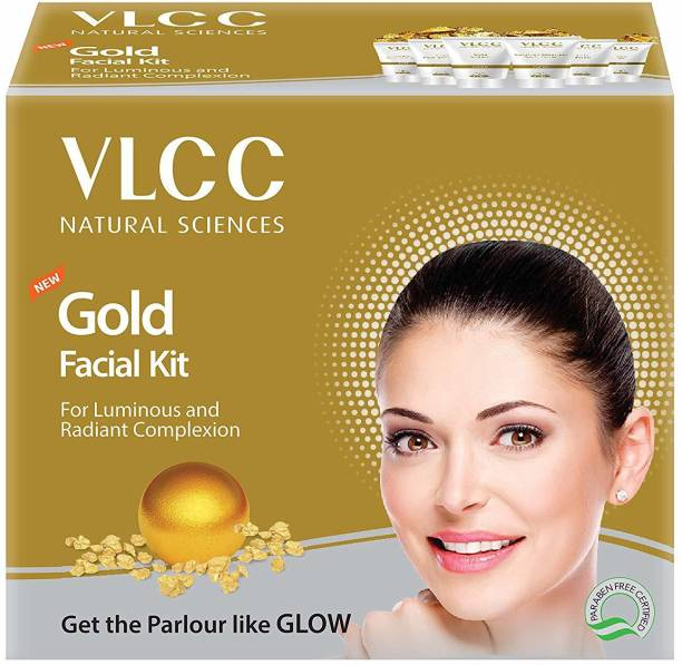 VLCC NEW Gold Facial Kit For Luminous & Radiant Complexion