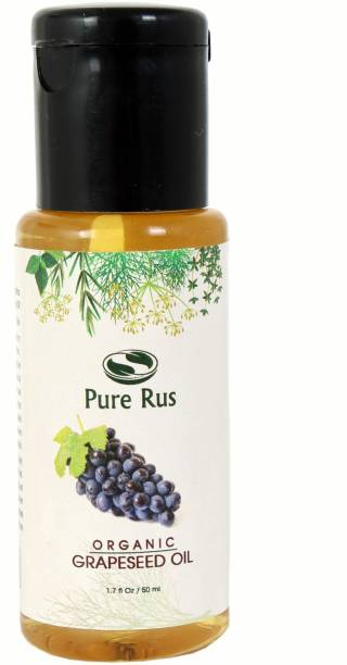 Pure Rus Cold Pressed Organic Grapeseed Oil for Hair Skin and Beard Growth Hair Oil