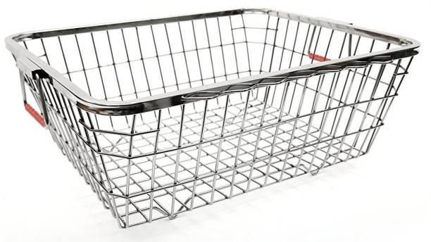 Impulse Heavy Stainless Steel Dish Drainer - Silver (Size :64 x 47 x 20 cm) Storage Basket