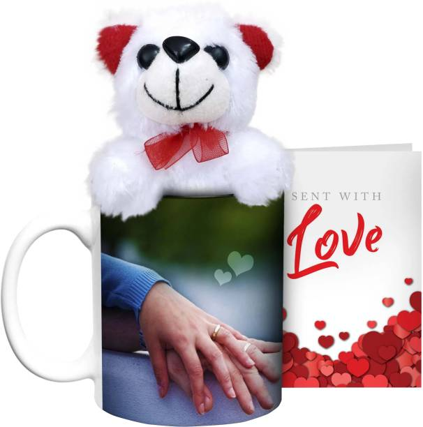 HOT MUGGS Nothing better than being with you with Teddy & Card Ceramic Coffee Mug