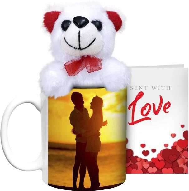 HOT MUGGS Sunset in Love with Teddy & Card Ceramic Coffee Mug