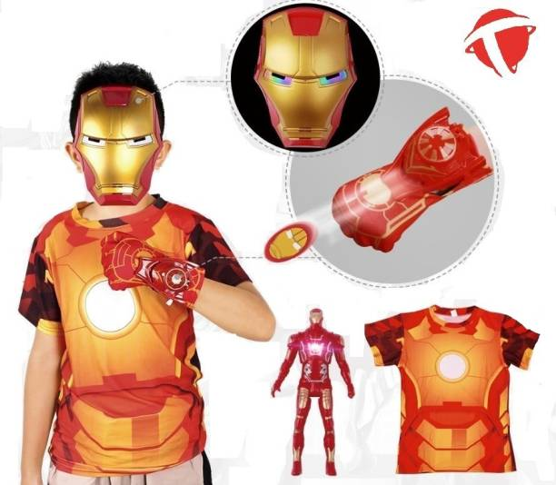 TOYZGANG BEST IRON MAN ACTION FIGURE ROLE PLAY SET WITH T SHIRT