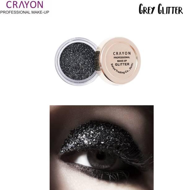 crayon grey glitter