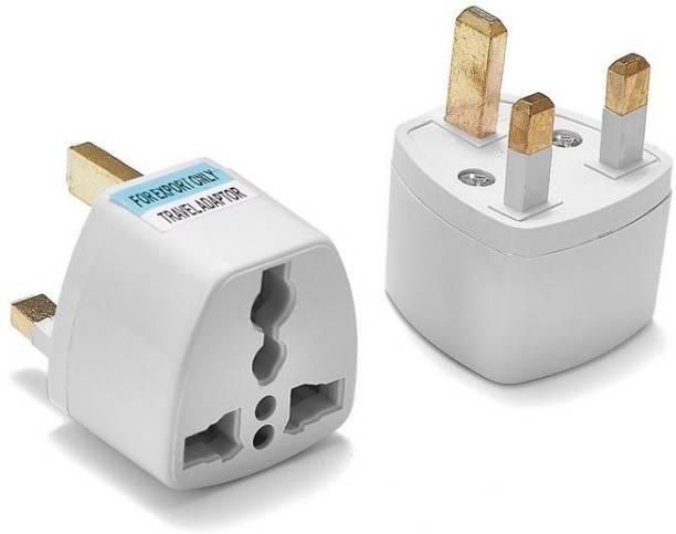 HI-PLASST Three pcs Type G Plug, Universal UK Flat Pin 3Pin Travel Power Plug Worldwide Adaptor