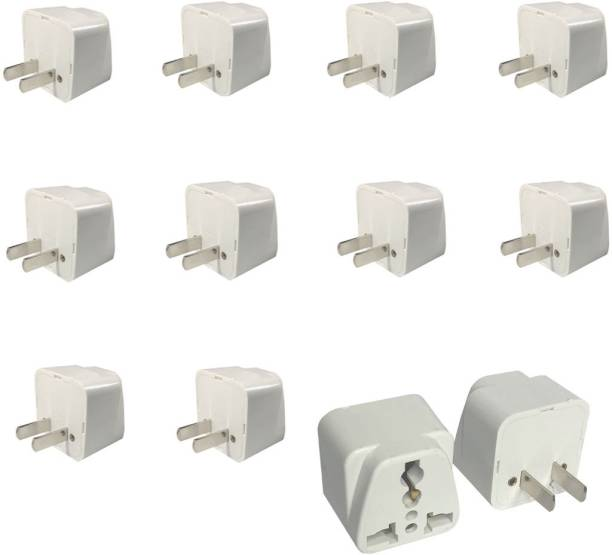 HI-PLASST 12Pcs, 2-Prong Universal Electrical AC Wall Plug Adapter Worldwide Adaptor