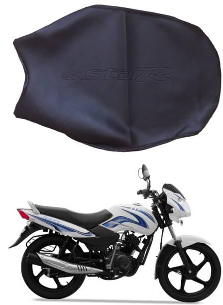 BikenWear Black Star Single Bike Seat Cover For TVS Sport