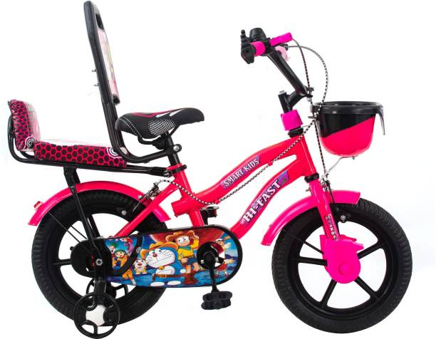 Hi-Fast Bicycle For Kids with Training Wheels (Semi Assembled) 14 T Road Cycle