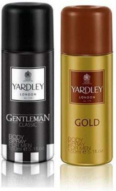 Yardley London London Gentleman & Gold Deodorant Spray Body Spray  -  For Men