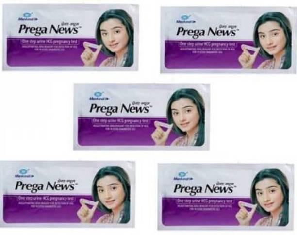 Mankind Prega News pack of 5 (One step Urine HCG pregnancy Test) Digital Pregnancy Test Kit Pregnancy Test Kit