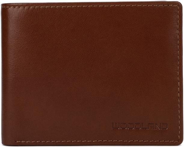 WOODLAND Men Tan Genuine Leather Wallet