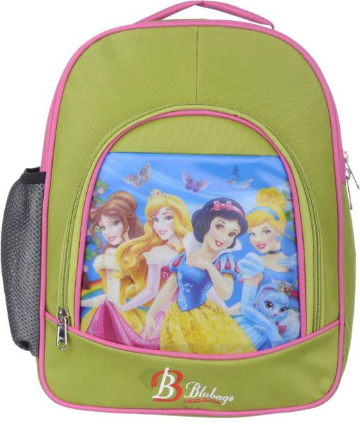 blubags 13 Litre Nursery LKG UKG Green Princess Printed School Bag For Girls Kids School Bag