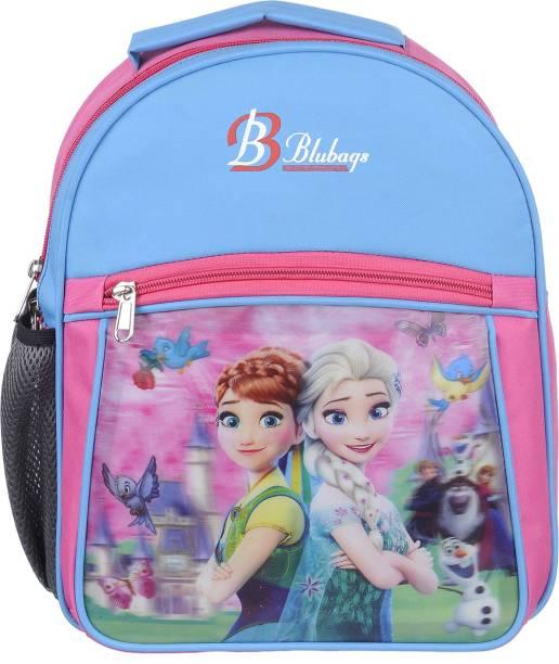 blubags 13 Litre Blue Nursery LKG UKG Aana Elsa School Bag For Girls Kids School Bag