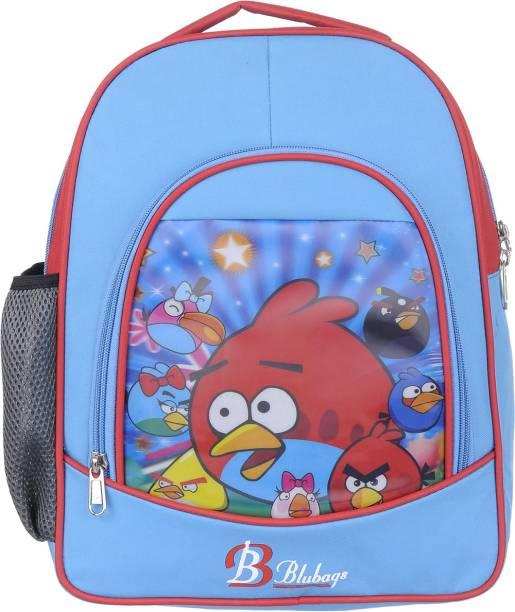 blubags 13 Litre Blue Nursery LKG UKG Angee Birds School Bag For Boys And Girls Kids School Bag