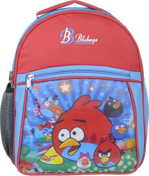blubags 13 Litre Red Nursery LKG UKG Angee Birds School Bag For Boys And Girls Kids School Bag