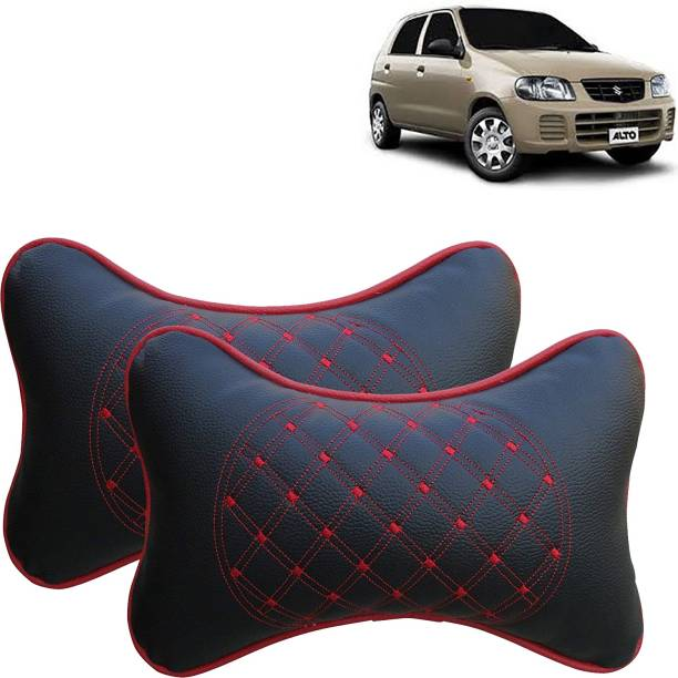 VOCADO Black, Red Leatherite Car Pillow Cushion for Maruti Suzuki