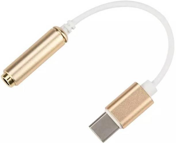 NICK JONES Gold Type C to 3.5mm Female AUDIO Jack Earphone USB Adapter USB Cable.... Phone Converter