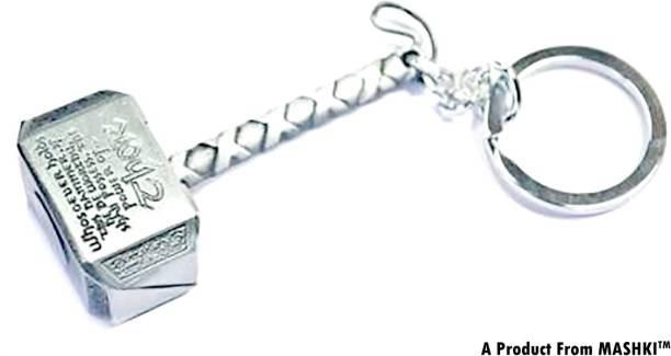 MASHKI THOR Silver Hammer (Mjlonir) AVENGERS Endgame Key Chain