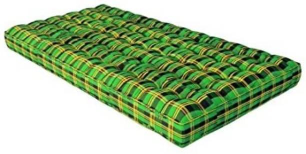IRA Medium Soft Cotton Mattress (4 inch) 4 inch Single Cotton Mattress