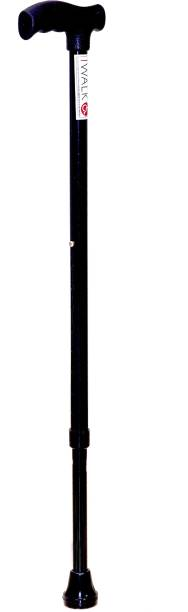 IWALK L-type Midnight black - Strong & light weight Walking Stick