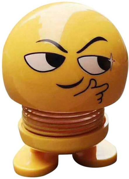 Techobucks Car emoticon spring shaking Emoji head dolls bouncing