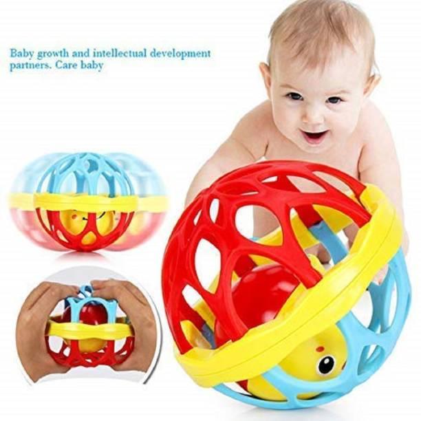 ODDEVEN Newborn Baby Rattle Ball for Kids Rolling Hand Bell Ball Rattle Rattle