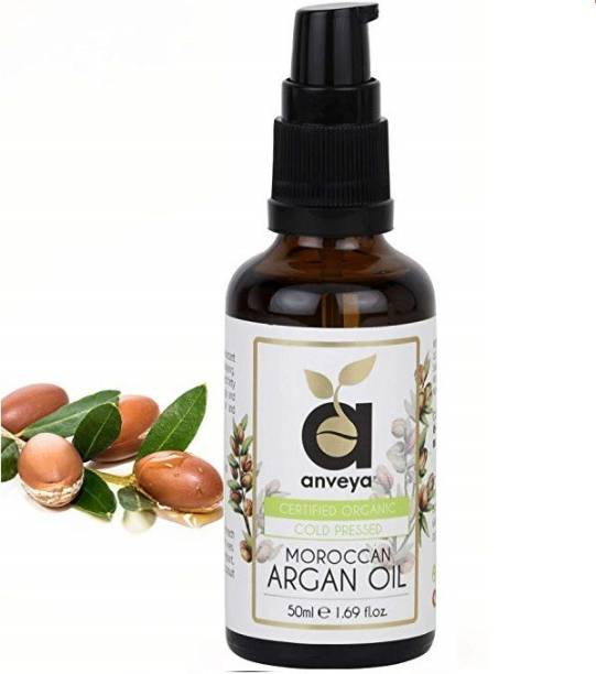 Anveya Pure Moroccan Argan Oil, Cold Pressed Organic, 50ml