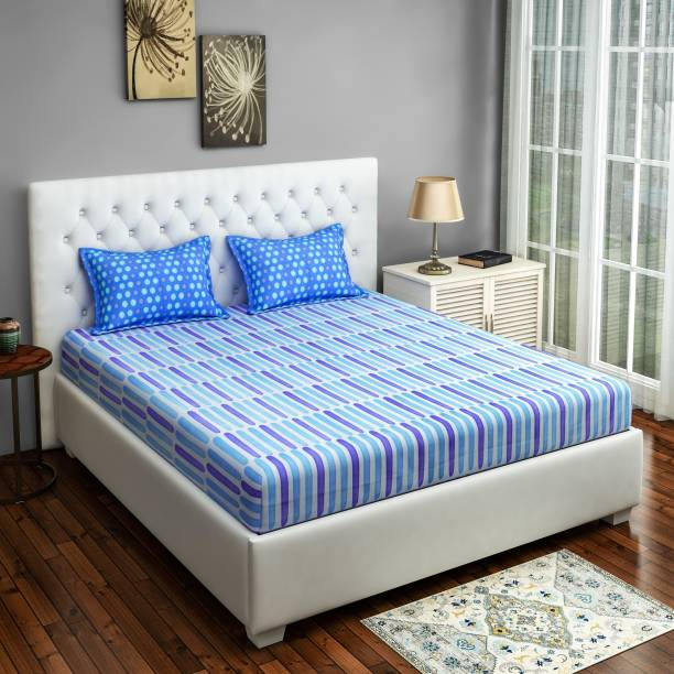 SWAYAM 144 TC Cotton Single Printed Bedsheet