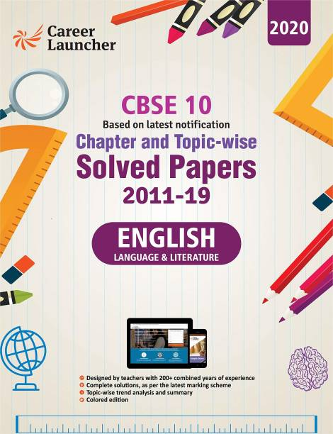 CBSE Class X 2020 - Chapter and Topic-wise Solved Papers 2011-2019 : English Language & Literature - Double Colour Matte