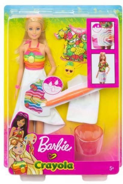 BARBIE Crayola Rainbow Fruit Surprise Doll & Fashions Playset