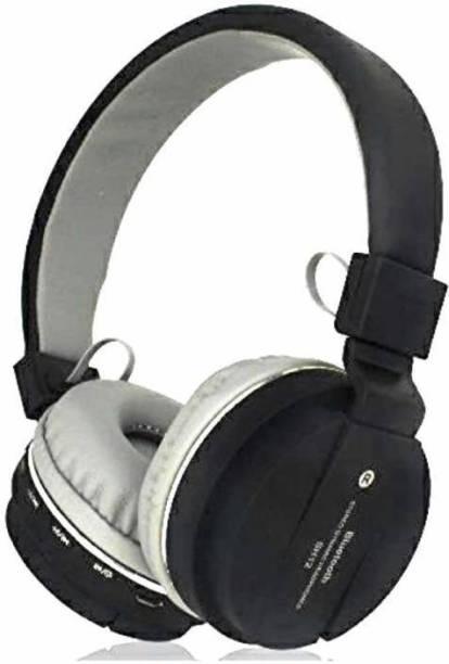 kk2 SH12 Bluetooth Headset with Mic (Black, Over the Ear) Bluetooth Headset
