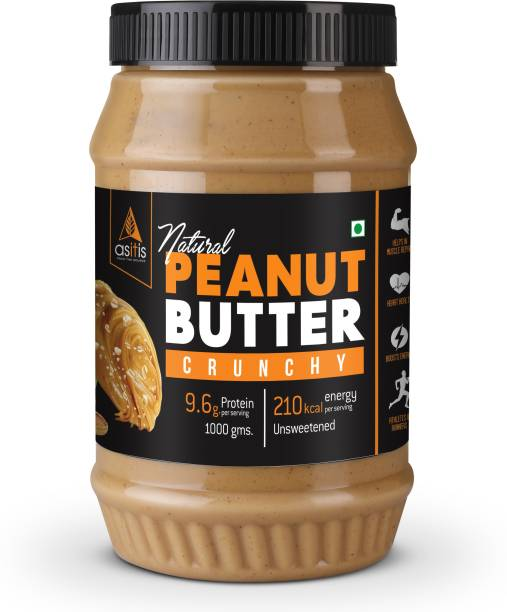 AS-IT-IS Nutrition Peanut Butter Crunchy (Natural & Unsweetened) 1 kg