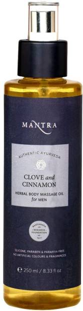 MANTRA Clove and Cinnamon Herbal BODY Massage Oil for men