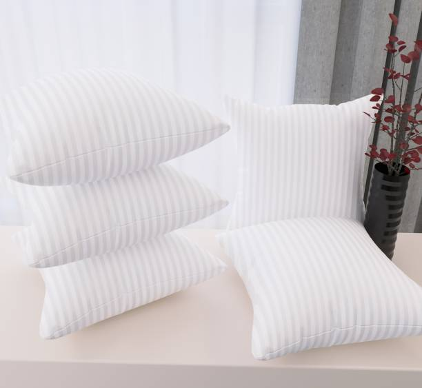 Flipkart SmartBuy Back Microfibre Stripes Cushion Pack of 5