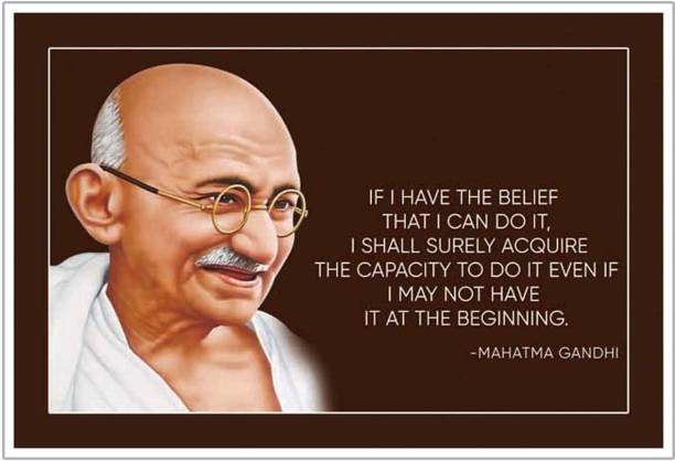 Mahatma Gandhi Motivational Thought Paper Poster Paper Print