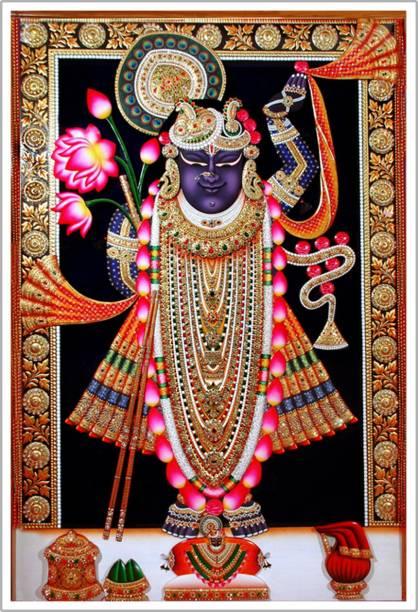 Lord Shrinathji Nathdwara Religious Paper Poster Paper Print