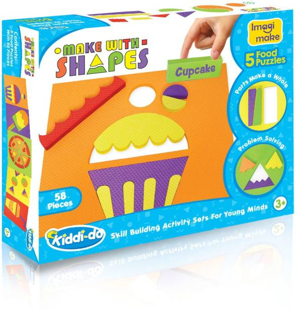 Imagimake Make with Shapes Activity Kit and Puzzle