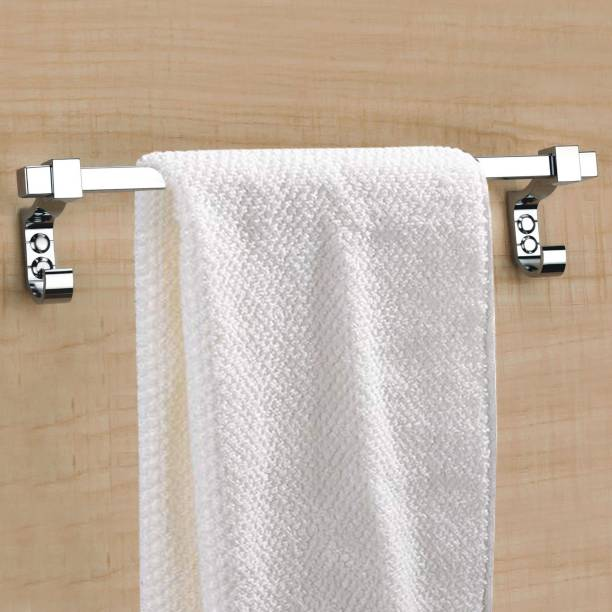 Plantex Stainless Steel Towel Hanger for Bathroom/Stand/Towel Rod/Bar/Bathroom Accessories(18 Inch) Chrome Finish Towel Holder