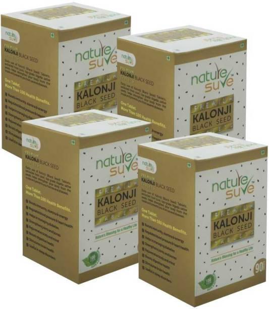 Nature Sure Premium Kalonji Tablets (Black Seed/ Nigella sativa) – 4 Packs