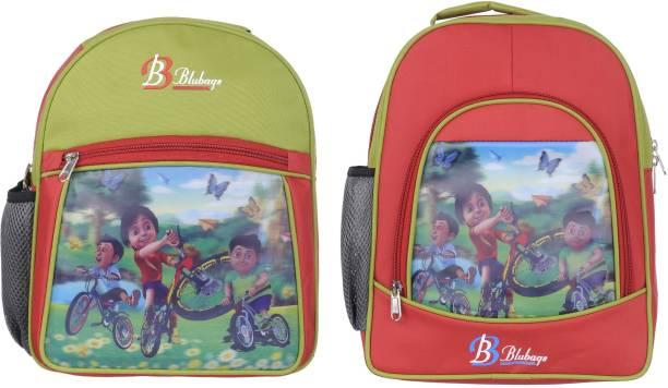 blubags 13 Litre GREEN Nursery To UKG shivaa Printed Waterproof School Bag