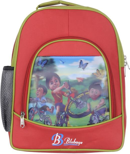 blubags 13 Litre RED Nursery To UKG shivaa Printed School Bag for Waterproof School Bag
