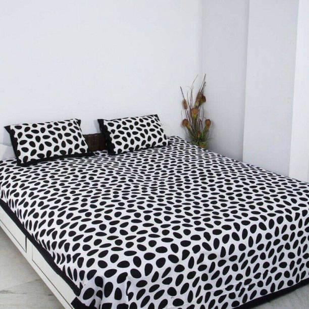 PINK CITY FAB CREATION 280 TC Cotton Double Jaipuri Prints Bedsheet
